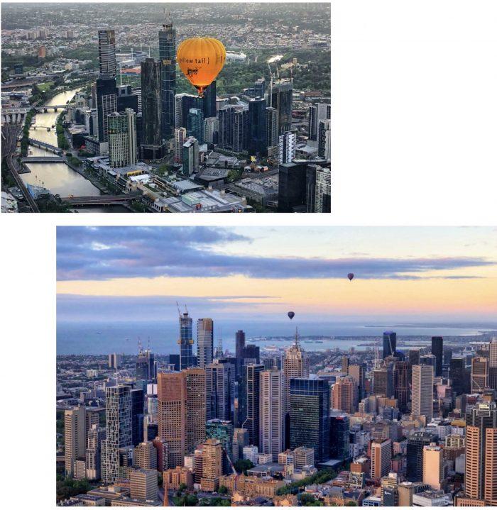 墨尔本市区热气球
